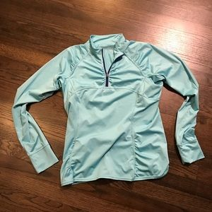 Athleta Blue Long Sleeve Shirt Large L EUC